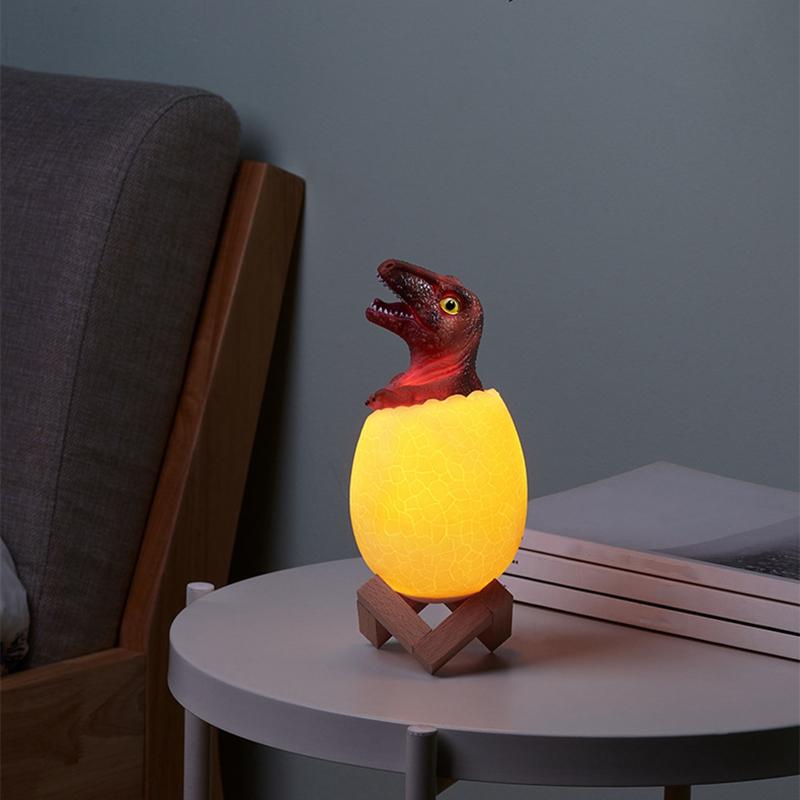 Dinosaurier-Spielzeug-Ei-Lampe-Lichter-16-Farben-Dinosaurier-Nachtlicht-Nach-iko Indexbild 19