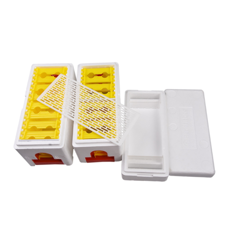 10 Pack Queen Bee Cage Catcher Transparent Plastic Clip Catcher Trap Box X2A7 5X
