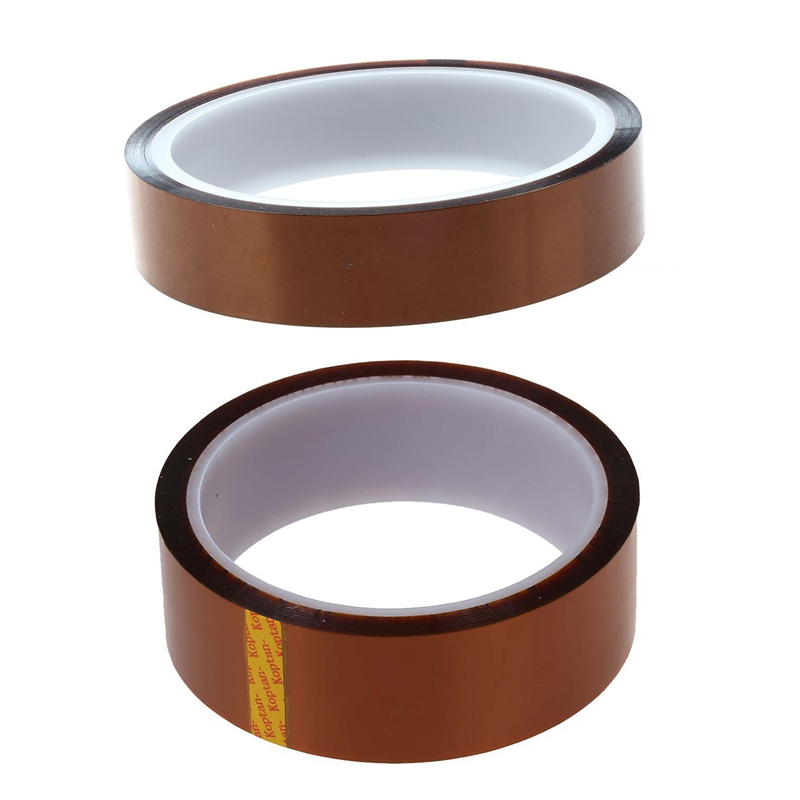 2pcs 8mm Width 33M Length High Temperature Heat Resistant Polyimide Tape
