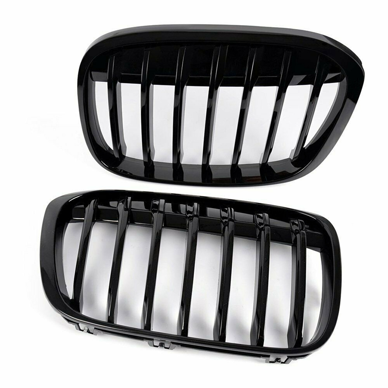Gloss Black Front Bumper Kidney Grill Grilles for BMW X1 ...