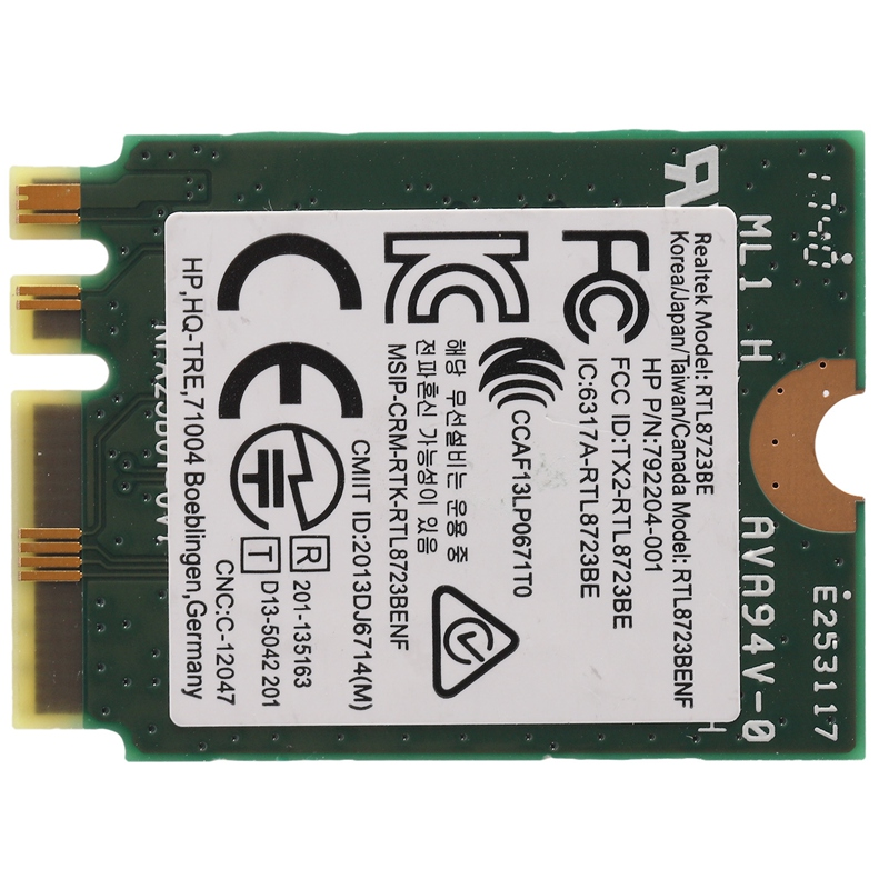 For RealTek RTL8723BE Wireless 802.11b//g//n WiFi Bluetooth 4.0 NGFF Mini Card