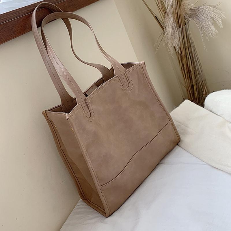 Damentasche-Retro-UmhaeNgetasche-Simple-Fashion-Aktentasche-Tote-Bag-S6K5 Indexbild 5