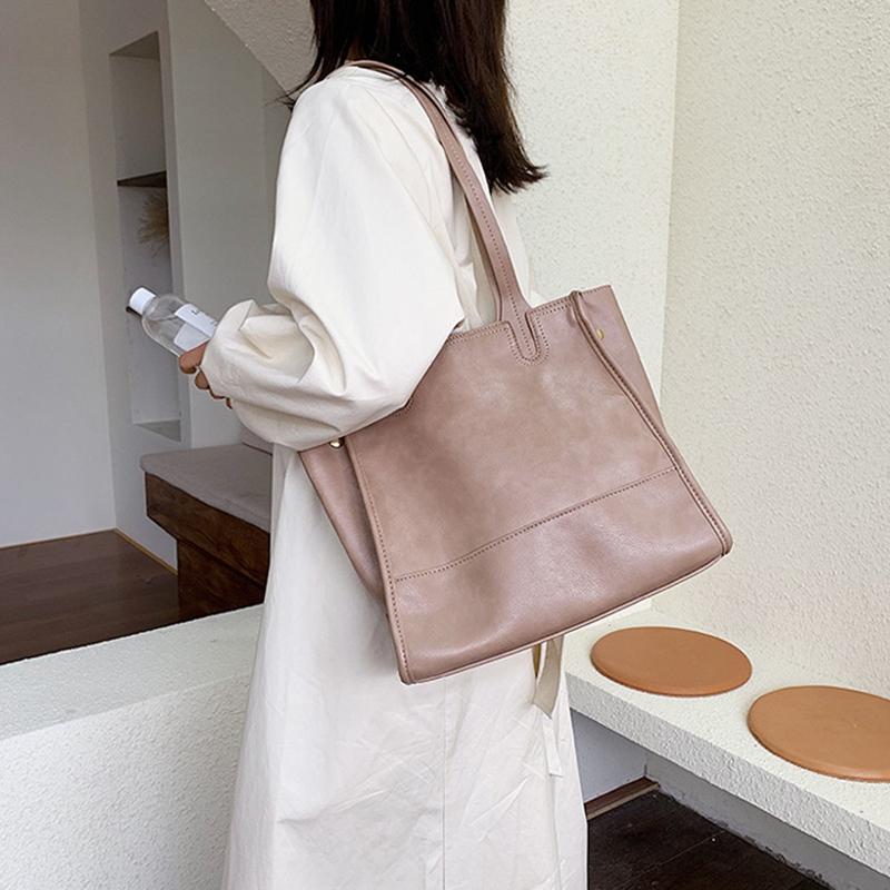 Damentasche-Retro-UmhaeNgetasche-Simple-Fashion-Aktentasche-Tote-Bag-S6K5 Indexbild 12