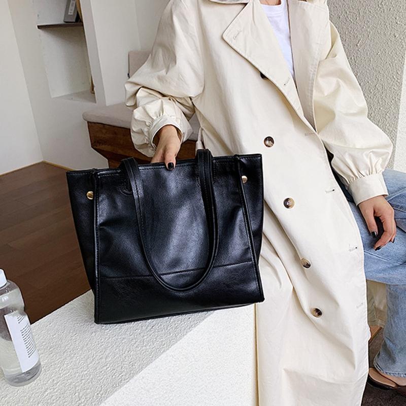 Damentasche-Retro-UmhaeNgetasche-Simple-Fashion-Aktentasche-Tote-Bag-S6K5 Indexbild 14