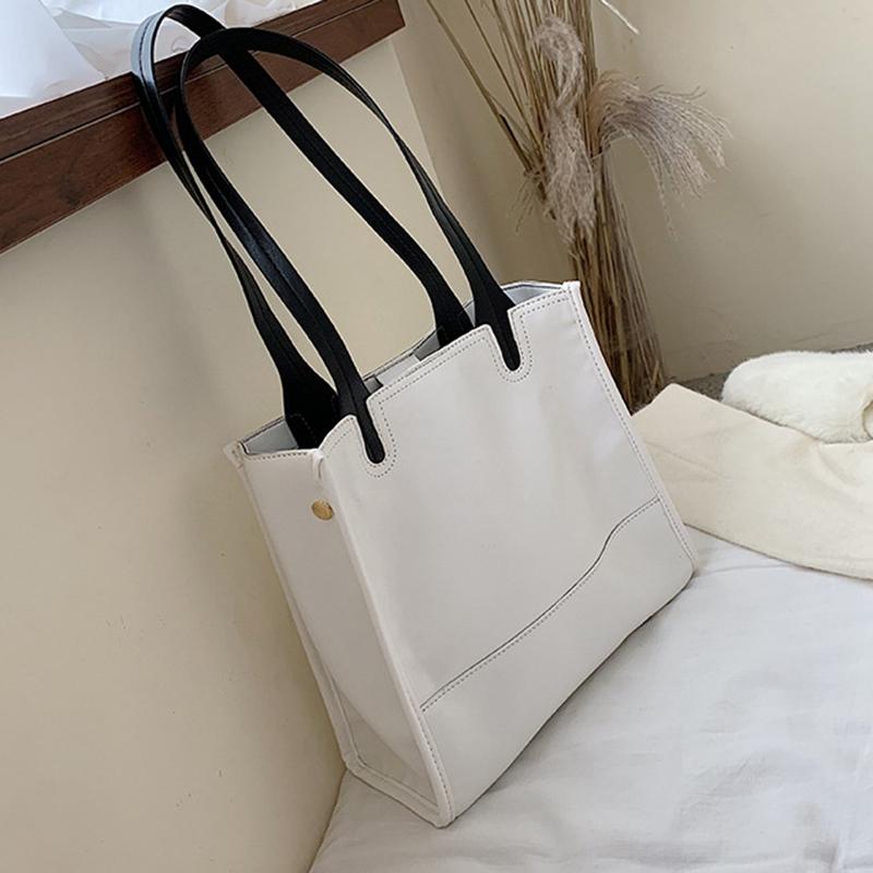 Damentasche-Retro-UmhaeNgetasche-Simple-Fashion-Aktentasche-Tote-Bag-S6K5 Indexbild 15