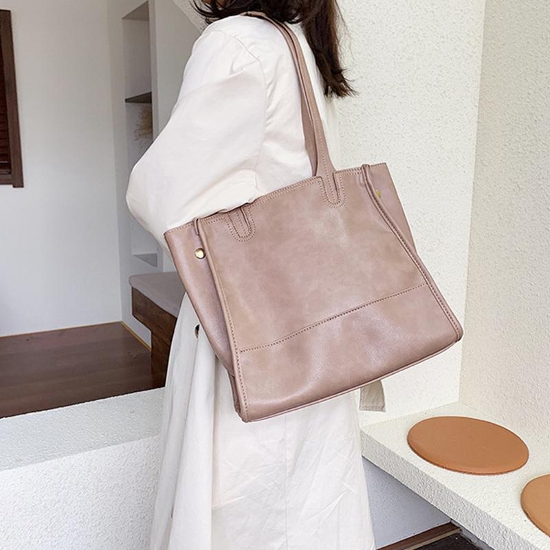Damentasche-Retro-UmhaeNgetasche-Simple-Fashion-Aktentasche-Tote-Bag-S6K5 Indexbild 22