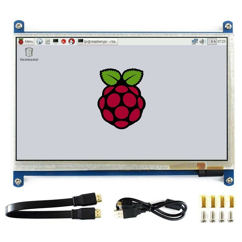 Waveshare-7Inch-HDMI-LCD-B-Capacitive-Press-Screen-800x480-for-Raspberry-Pi-Su thumbnail 3