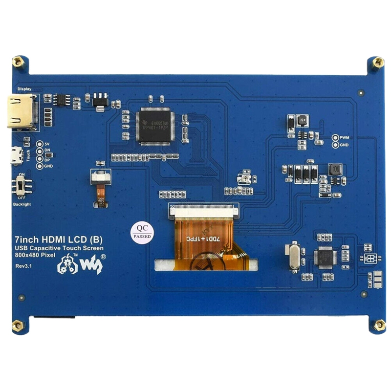 Waveshare-7Inch-HDMI-LCD-B-Capacitive-Press-Screen-800x480-for-Raspberry-Pi-Su thumbnail 5