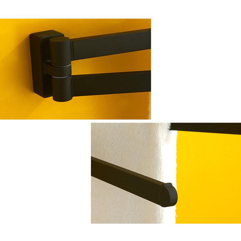 Schwenkbarer-Handtuch-Halter-Bewegliche-Doppel-Handtuch-Halter-Chrom-Matt-G-D1O6 Indexbild 7