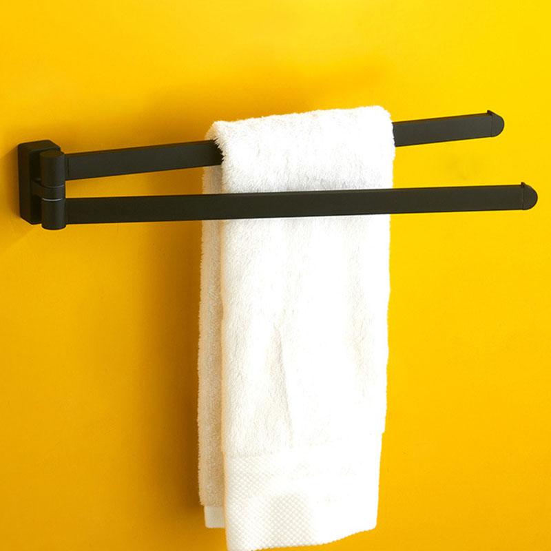 Schwenkbarer-Handtuch-Halter-Bewegliche-Doppel-Handtuch-Halter-Chrom-Matt-G-D1O6
