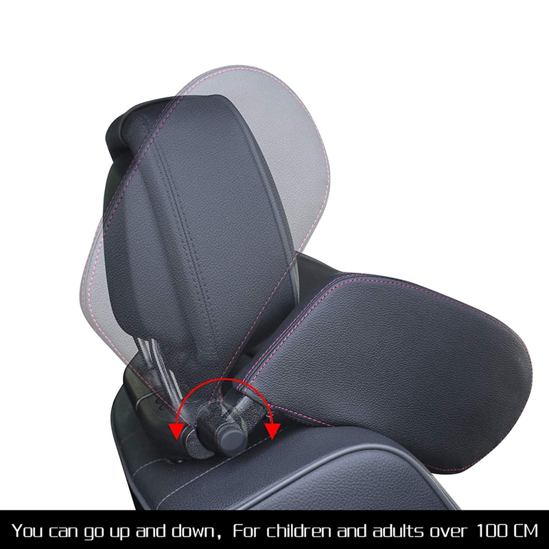 Car-Headrest-Nap-Support-Fitted-Seat-Pillow-Car-Functional-Travel-Car-Acce-J2L2 thumbnail 3