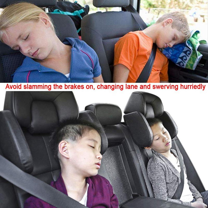 Car-Headrest-Nap-Support-Fitted-Seat-Pillow-Car-Functional-Travel-Car-Acce-J2L2 thumbnail 8