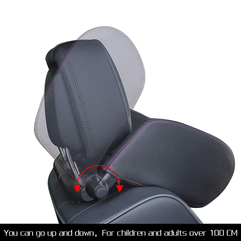 Car-Headrest-Nap-Support-Fitted-Seat-Pillow-Car-Functional-Travel-Car-Acce-J2L2 thumbnail 13