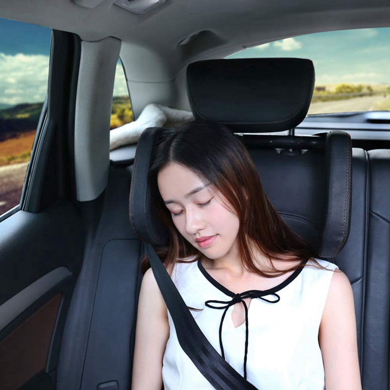 Car-Headrest-Nap-Support-Fitted-Seat-Pillow-Car-Functional-Travel-Car-Acce-J2L2 thumbnail 24