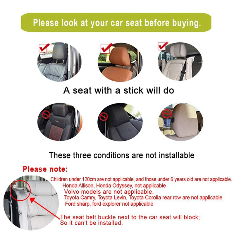 Car-Headrest-Nap-Support-Fitted-Seat-Pillow-Car-Functional-Travel-Car-Acce-J2L2 thumbnail 27