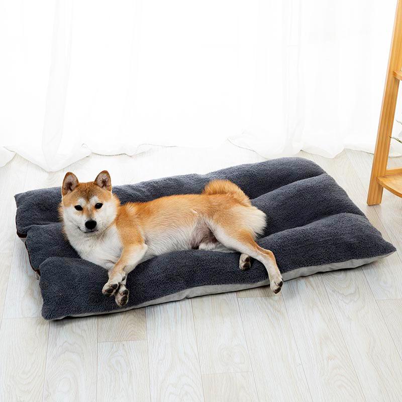 GrossEs-Hundebett-Warm-Pet-Puppy-House-Kissen-Soft-Kennel-Nest-Sofa-Mat-Blan-H9H8 Indexbild 4