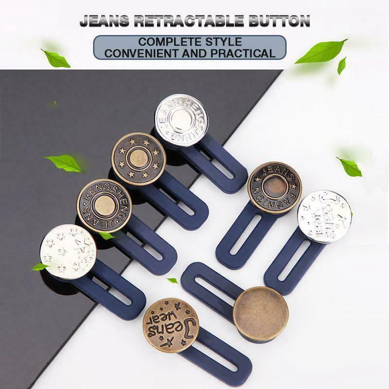 Jeans einziehbarer Knopf verstellbare Taille ersetzen Befestigungssatz H6O2