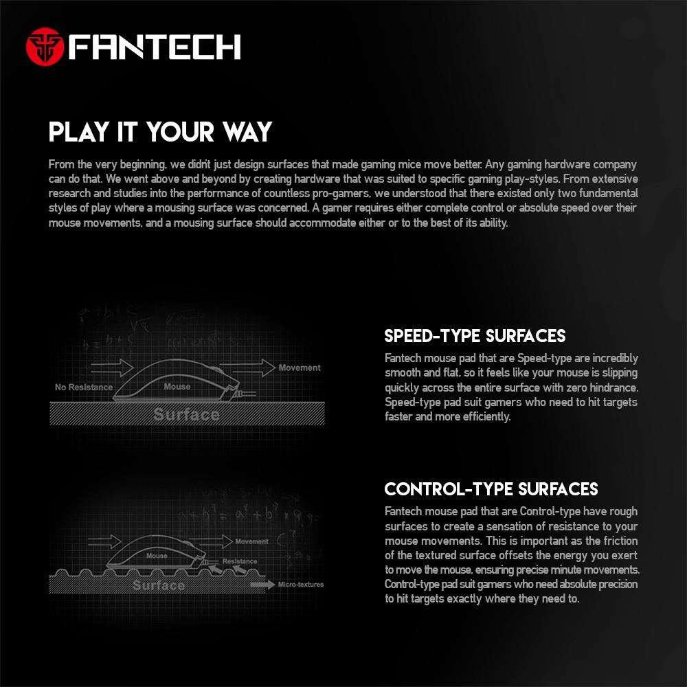 FANTECH-MP292-Spiel-Maus-Pad-Professionelles-Spiel-Maus-Pad-Rutschfester-Na-H6G1 Indexbild 5