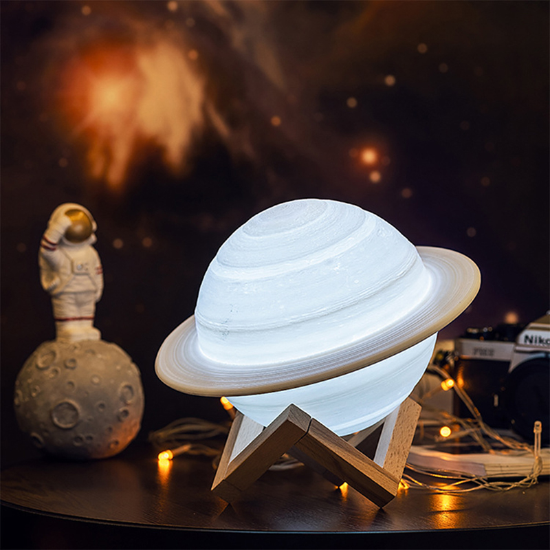 Rechargeable-3D-Print-Saturn-Lamp-Like-Moon-Lamp-Night-Light-for-Moon-Light-I1L6 thumbnail 3