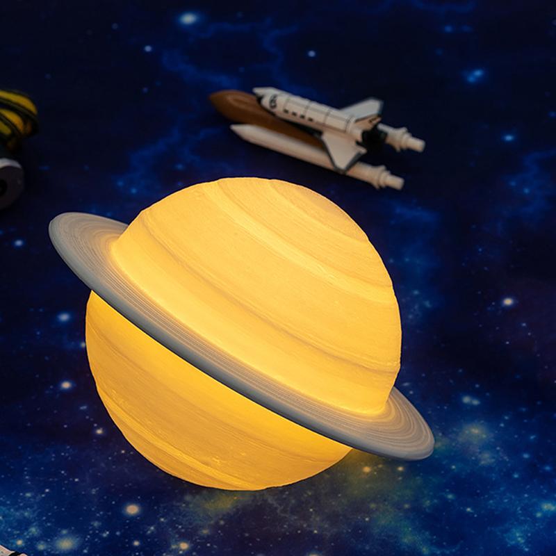 Rechargeable-3D-Print-Saturn-Lamp-Like-Moon-Lamp-Night-Light-for-Moon-Light-I1L6 thumbnail 4