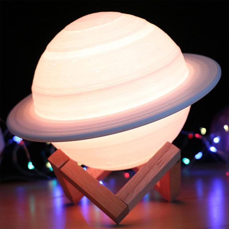 Rechargeable-3D-Print-Saturn-Lamp-Like-Moon-Lamp-Night-Light-for-Moon-Light-I1L6 thumbnail 5