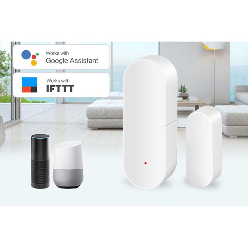 TUYA Wifi Tür Fenster Sensor Sicherheit Wächter Kabellos Kompatibel Alexa Google