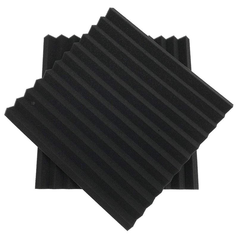 12 StüCke Schwarze Akustik Platten Schall Schutz Schaum Akustik Fliesen Stu T1Z6