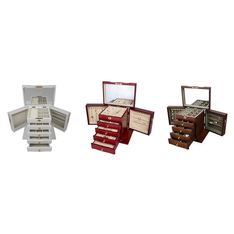 Jewelry-Box-with-Lock-Real-Wooden-Princess-European-Retro-Multifunctional-C-U8B4 thumbnail 6