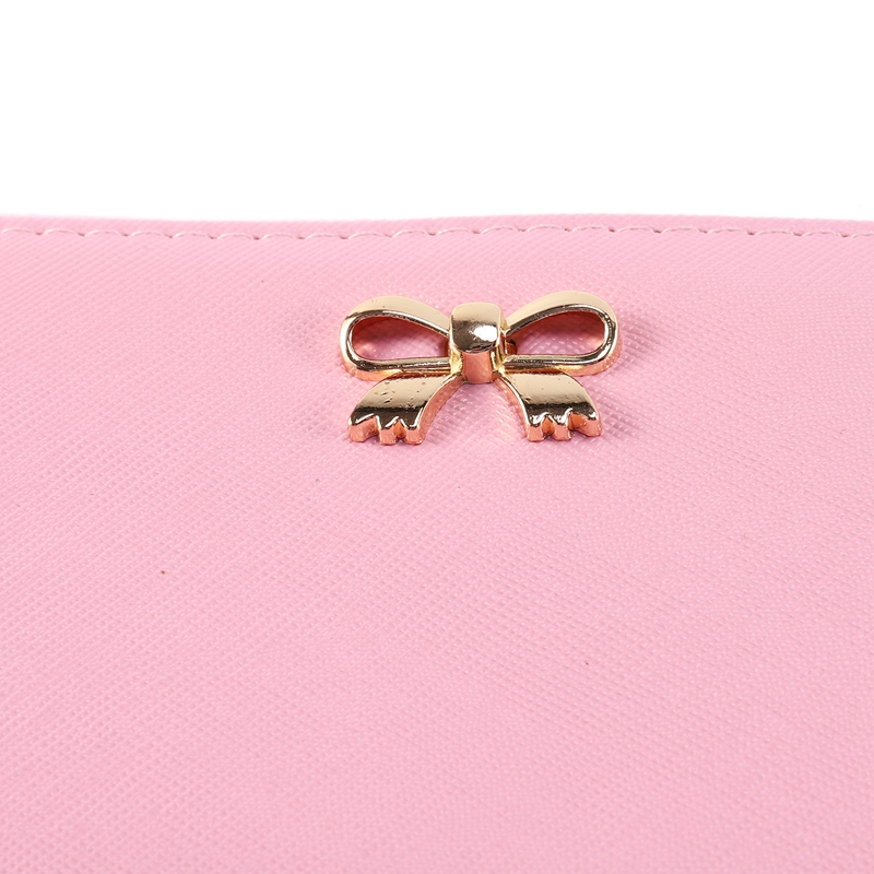 Fashion-Korean-Cute-Bowknot-GeldboeRse-Solid-Wearable-Wallet-fuer-Frauen-U8W6 Indexbild 8