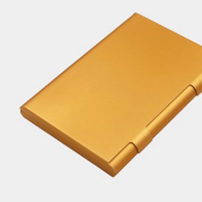 Porta-Biglietti-da-Visita-Push-Card-Porta-Carte-di-Credito-Confezione-Tesse-L2N2 miniatura 5