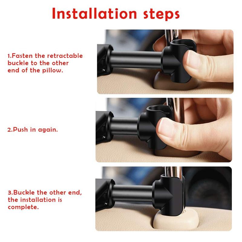 10X(Car Headrest Mount Universal 360° Rotating Adjustable ...