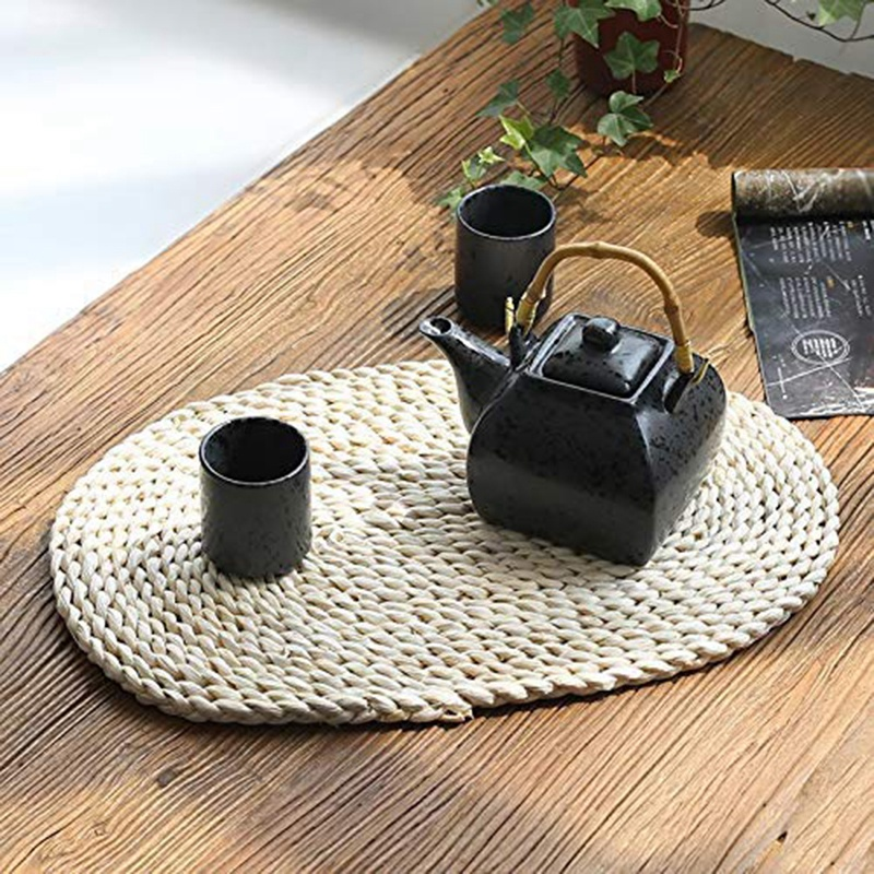 corn st woven placemats oval rattan placemats braided