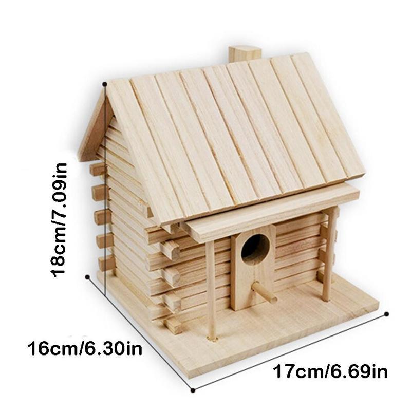 Maison-D-039-Oiseau-Mural-Nid-en-Bois-Nid-Dox-Maison-D-039-Oiseau-Maison-Oiseau-Boi-Z5K3 miniature 4