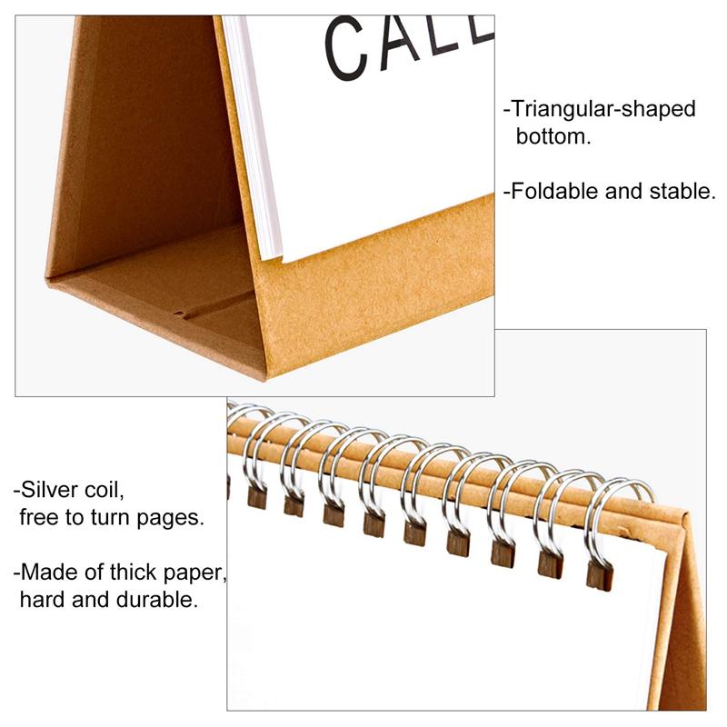 Escritorio-Calendario-de-Pared-Plan-Mensual-Planificador-Diario-Planificado-O6S5 miniatura 5