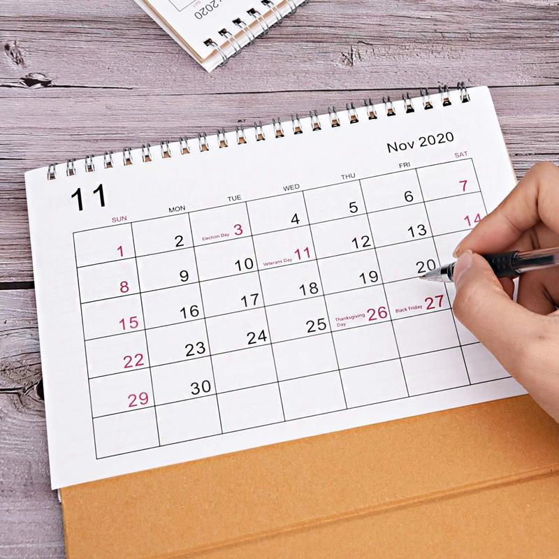 Escritorio-Calendario-de-Pared-Plan-Mensual-Planificador-Diario-Planificado-O6S5 miniatura 6
