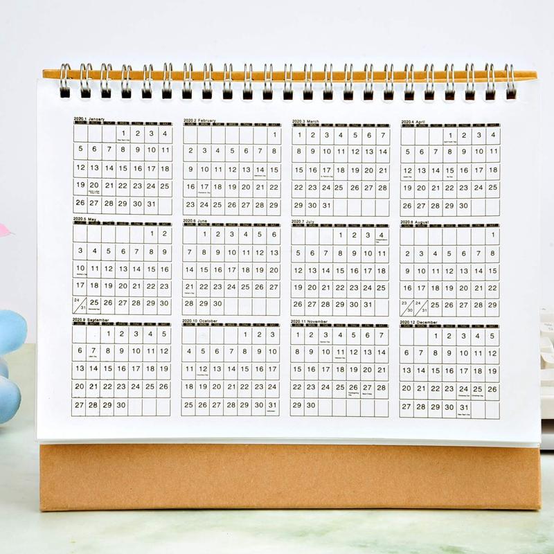 Escritorio-Calendario-de-Pared-Plan-Mensual-Planificador-Diario-Planificado-O6S5 miniatura 7