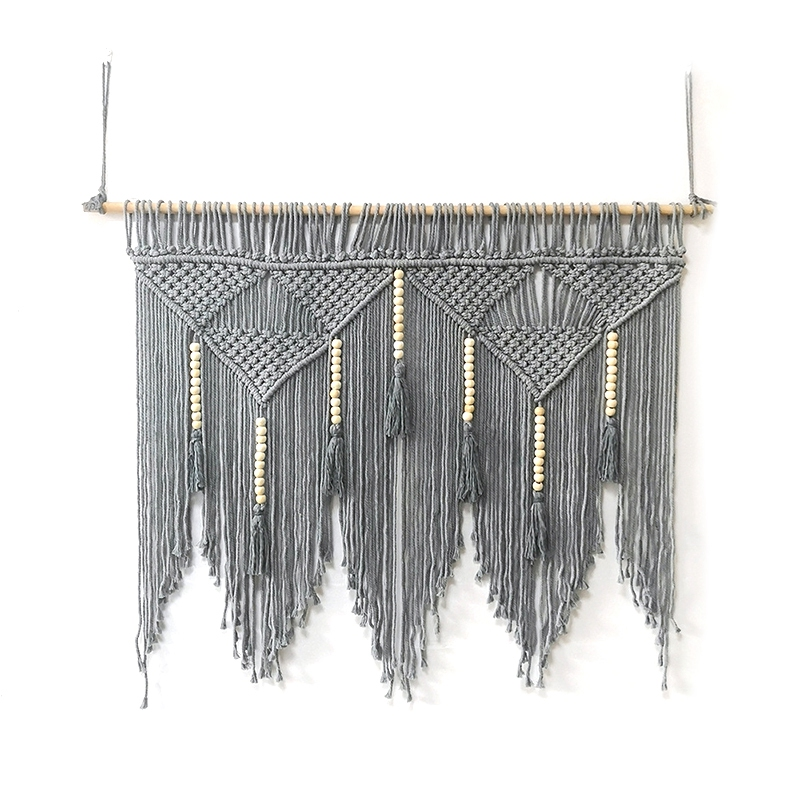 Macrame-Wall-Hanging-Handwoven-Bohemian-Cotton-Rope-Boho-Tapestry-Home-Deco-F2C3 thumbnail 3