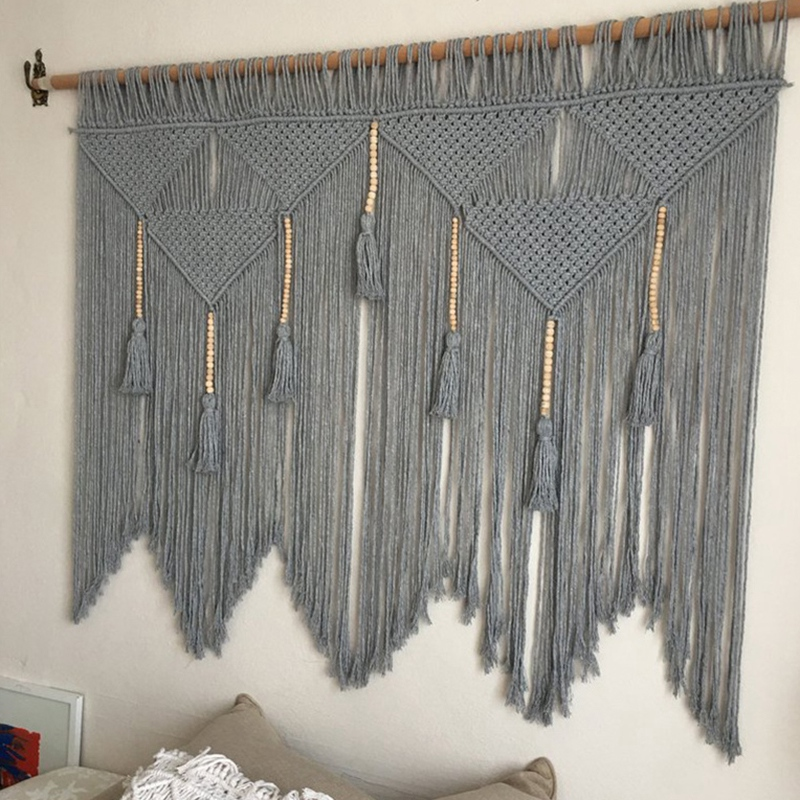 Macrame-Wall-Hanging-Handwoven-Bohemian-Cotton-Rope-Boho-Tapestry-Home-Deco-F2C3 thumbnail 4