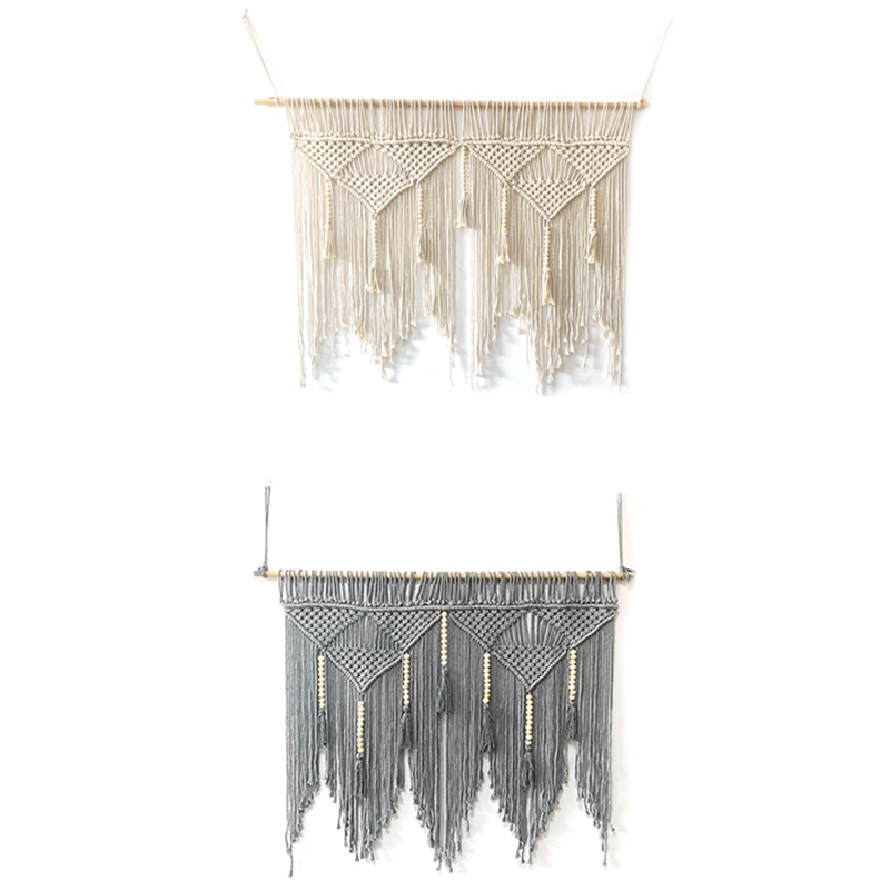 Macrame-Wall-Hanging-Handwoven-Bohemian-Cotton-Rope-Boho-Tapestry-Home-Deco-F2C3 thumbnail 6