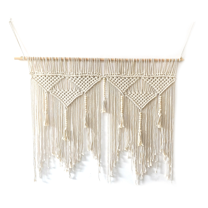 Macrame-Wall-Hanging-Handwoven-Bohemian-Cotton-Rope-Boho-Tapestry-Home-Deco-F2C3 thumbnail 9