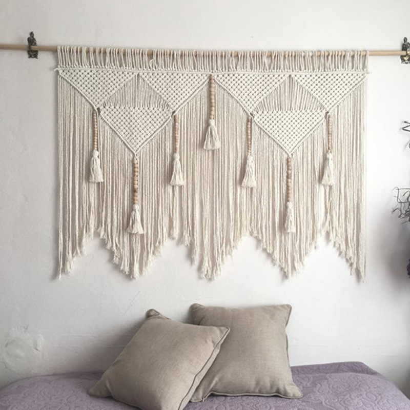 Macrame-Wall-Hanging-Handwoven-Bohemian-Cotton-Rope-Boho-Tapestry-Home-Deco-F2C3 thumbnail 10