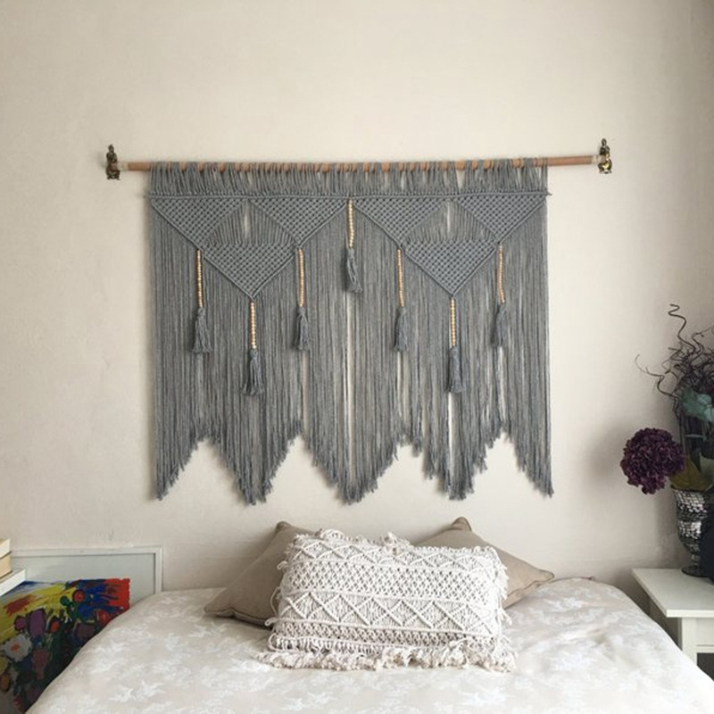 Macrame-Wall-Hanging-Handwoven-Bohemian-Cotton-Rope-Boho-Tapestry-Home-Deco-F2C3 thumbnail 11