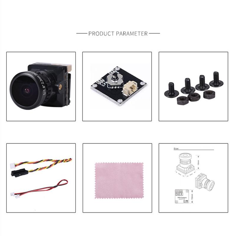 1X-1-1-8-Zoll-Starlight-R-OSD-800TVL-FPV-Kamera-16-9-4-3-NTSC-PAL-U-I7Z1 Indexbild 21