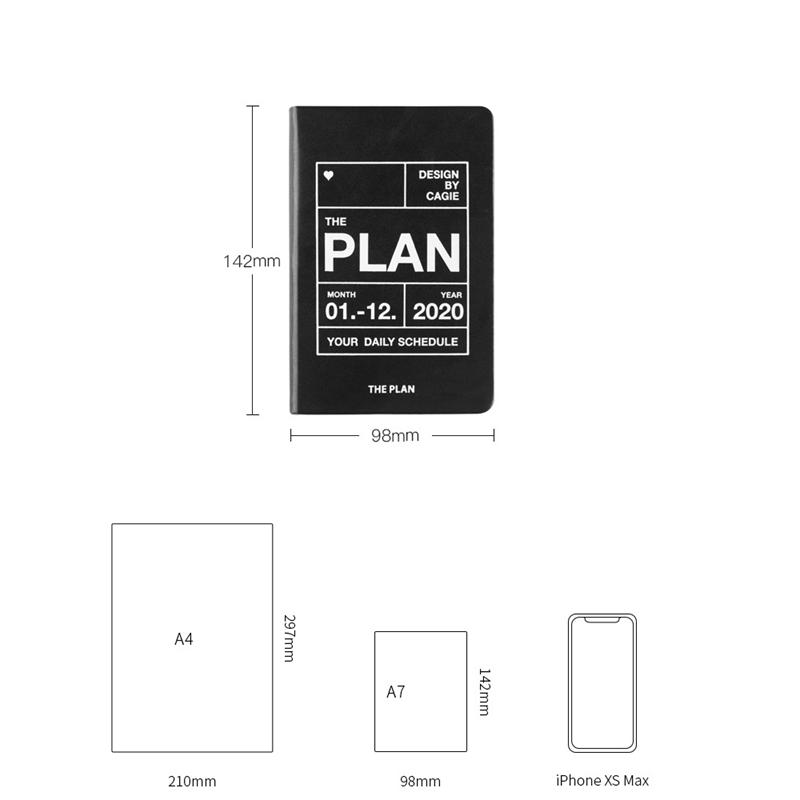 Planificador-del-AnO-2020-Viajes-A7-Cuaderno-Diario-Diario-Planificador-Sem-R8W8 miniatura 9