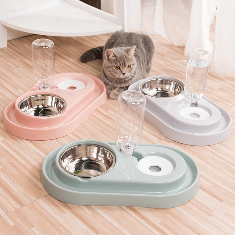 Cat-Bowl-Dog-Water-Feeder-Bowl-Cat-Kitten-Drinking-Fountain-Food-Dish-Pet-B-L8U3 thumbnail 18