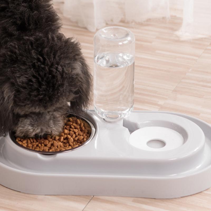 Cat-Bowl-Dog-Water-Feeder-Bowl-Cat-Kitten-Drinking-Fountain-Food-Dish-Pet-B-L8U3 thumbnail 19