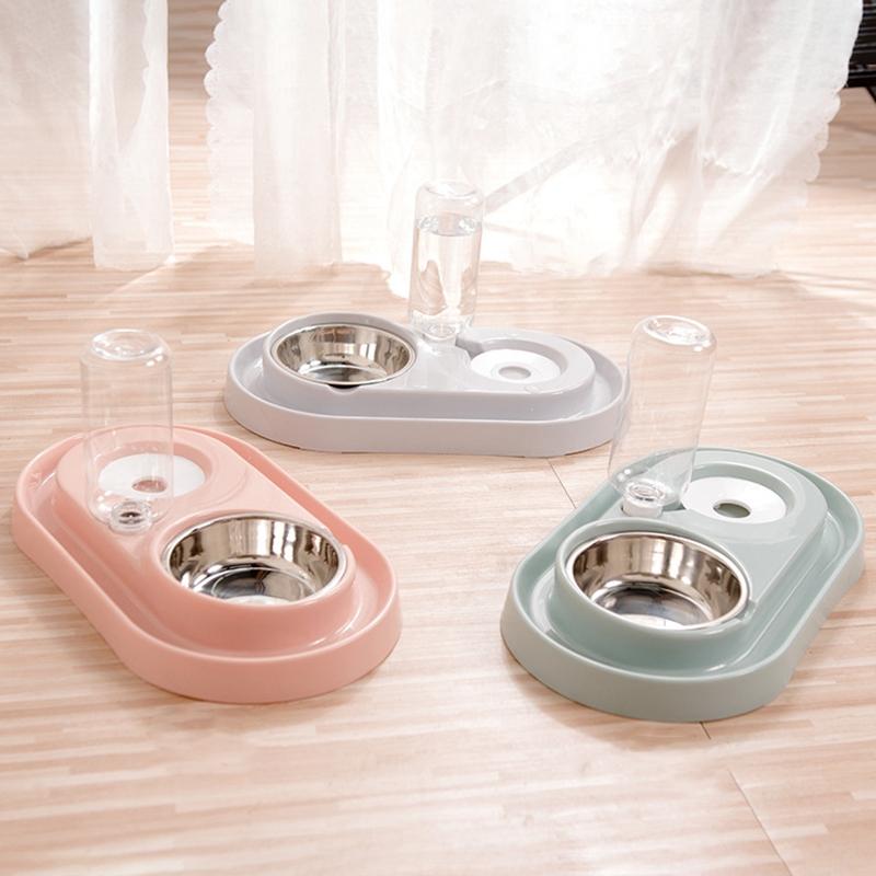 Cat-Bowl-Dog-Water-Feeder-Bowl-Cat-Kitten-Drinking-Fountain-Food-Dish-Pet-B-L8U3 thumbnail 20