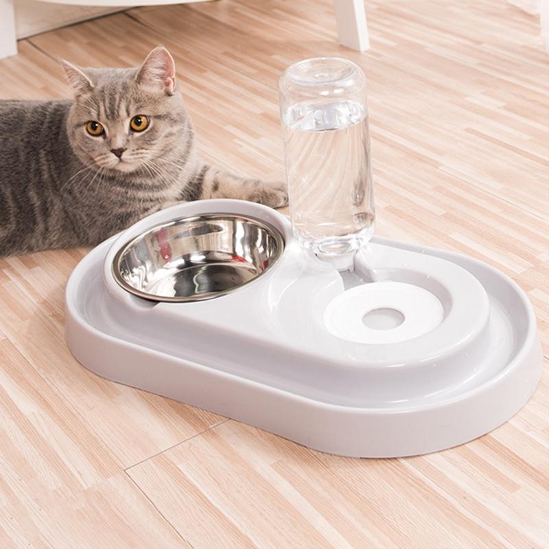 Cat-Bowl-Dog-Water-Feeder-Bowl-Cat-Kitten-Drinking-Fountain-Food-Dish-Pet-B-L8U3 thumbnail 25