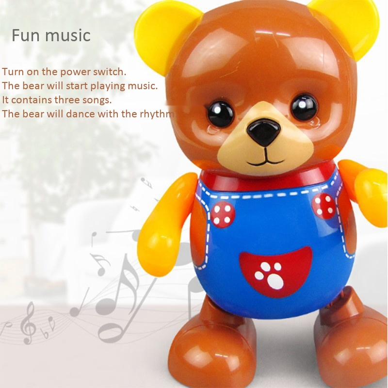 Electric-Toy-Bear-Swing-Dancing-Bear-Toy-Music-Lighting-Doll-Toy-Cute-Toy-H7O9 thumbnail 6