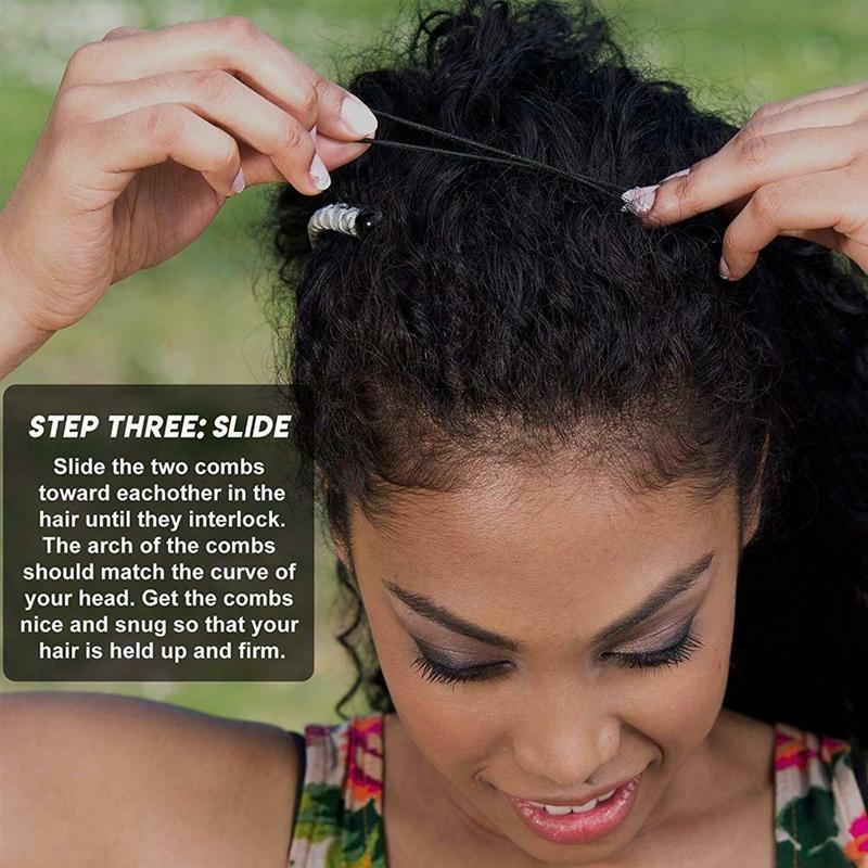 Vintage-Banana-Hair-Clip-Christmas-Accessory-Stretchable-Comb-Multipurpose-M3E7 thumbnail 22